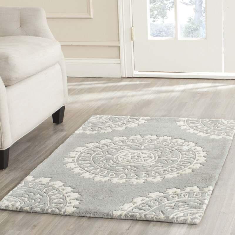 Erica Blue Wool Hand Tufted Area Rug