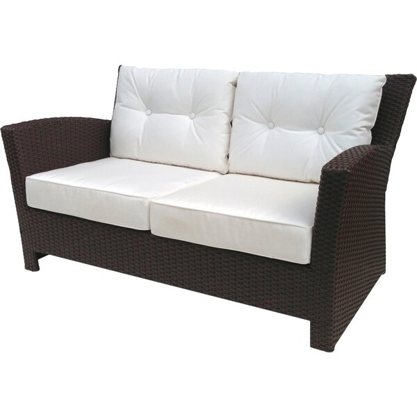 Vandewa Loveseat with Sunbrella Cushions by Rosecliff Heights
