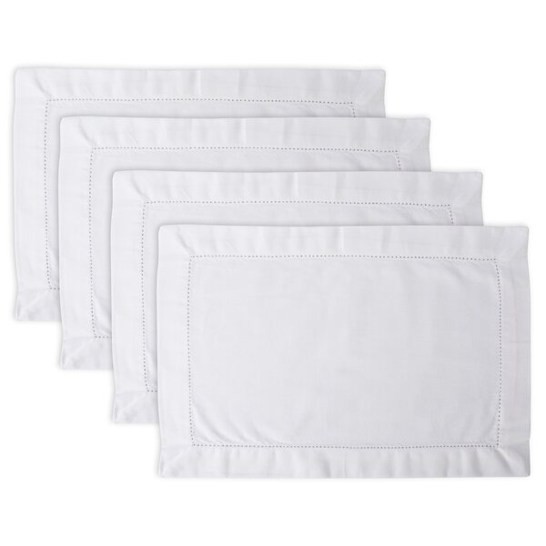 Millican Hemstitch Kitchen 19 Placemat (Set of 4) by August Grove