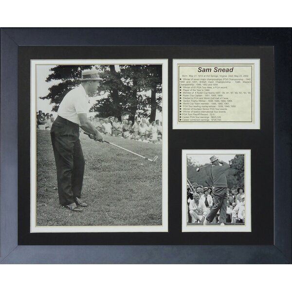 Sam Snead Framed Memorabilia by Legends Never Die