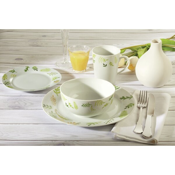 Lough Greenery 16 Piece Dinnerware Set, Service for 4 by Winston Porter