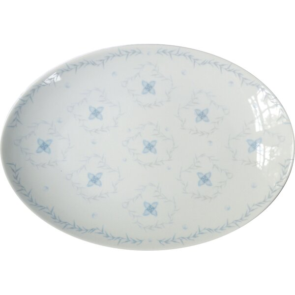 Thayer Medium Porcelain Rosette Coupe Serving Platter by Rosecliff Heights