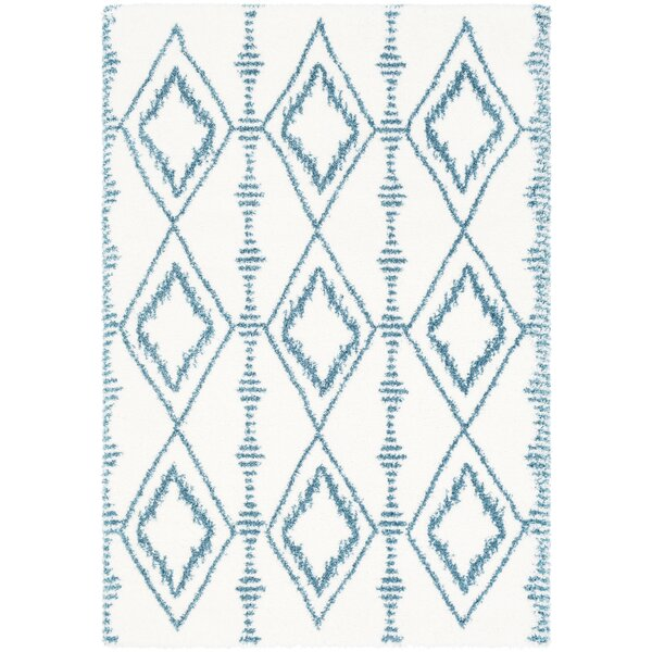 Dysart Bohemian Teal/White Area Rug by Bungalow Rose