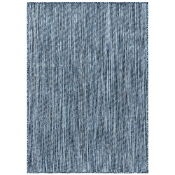 Ephraim Blue Indoor/Outdoor Area Rug by Highland Dunes