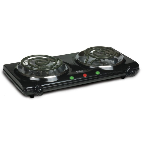 Portable 17 Electric Cooktop with 2 Burners by Sal