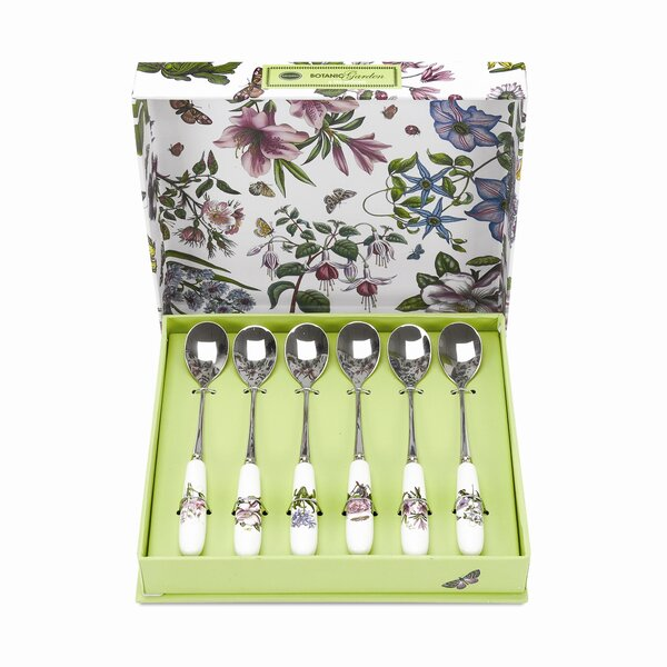 Botanic Garden Tea Spoons (Set of 6) by Portmeirion