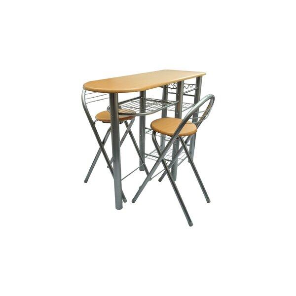 3 Piece Pub Table Set (Set of 3) by Ebern Designs