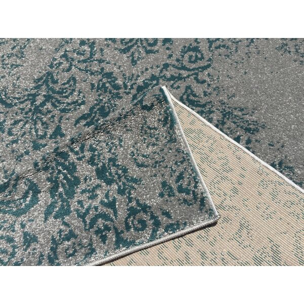 Harvin Teal/Blue Indoor/Outdoor Area Rug by Bungalow Rose