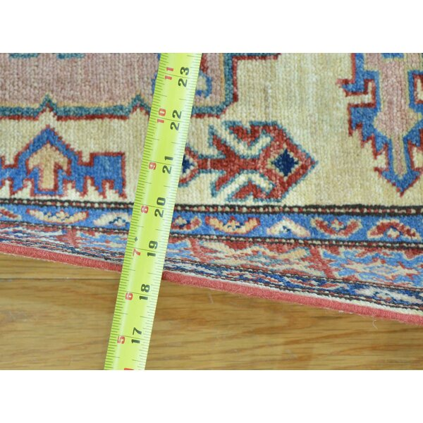 One-of-a-Kind Chambers Kazak Handwoven Ivory Wool Area Rug by Isabelline