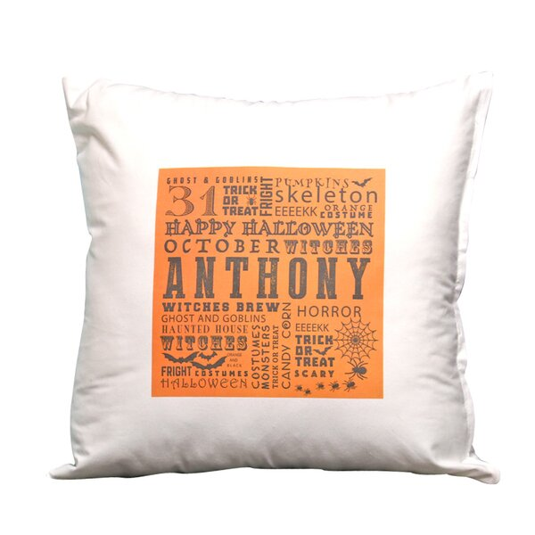 Personalized Halloween Decorative Pillow Cover by Monogramonline Inc.