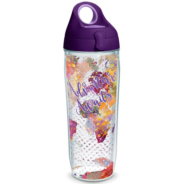 On Trend Adventure Awaits 24 oz. Plastic Water Bottle by Tervis Tumbler