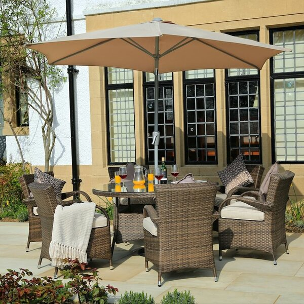 Ringler 7 Piece Dining Set with Cushions by Red Barrel Studio