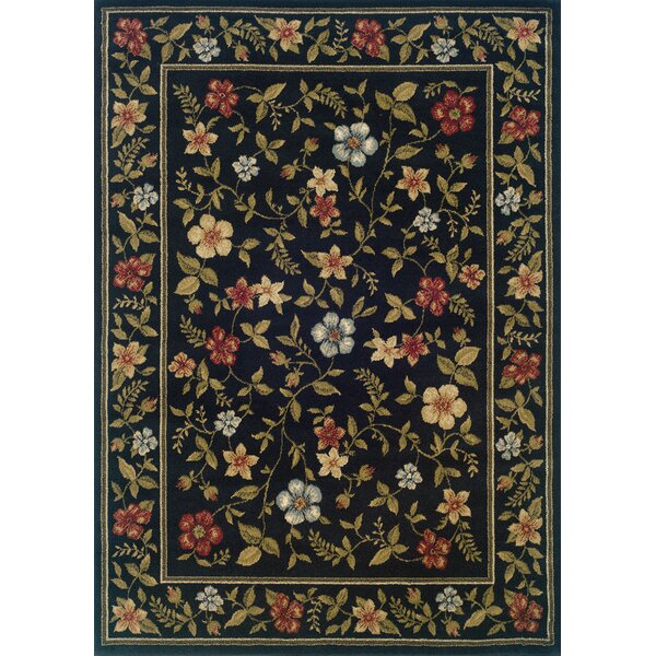 Albrightsville Black/Green Area Rug by Charlton Home