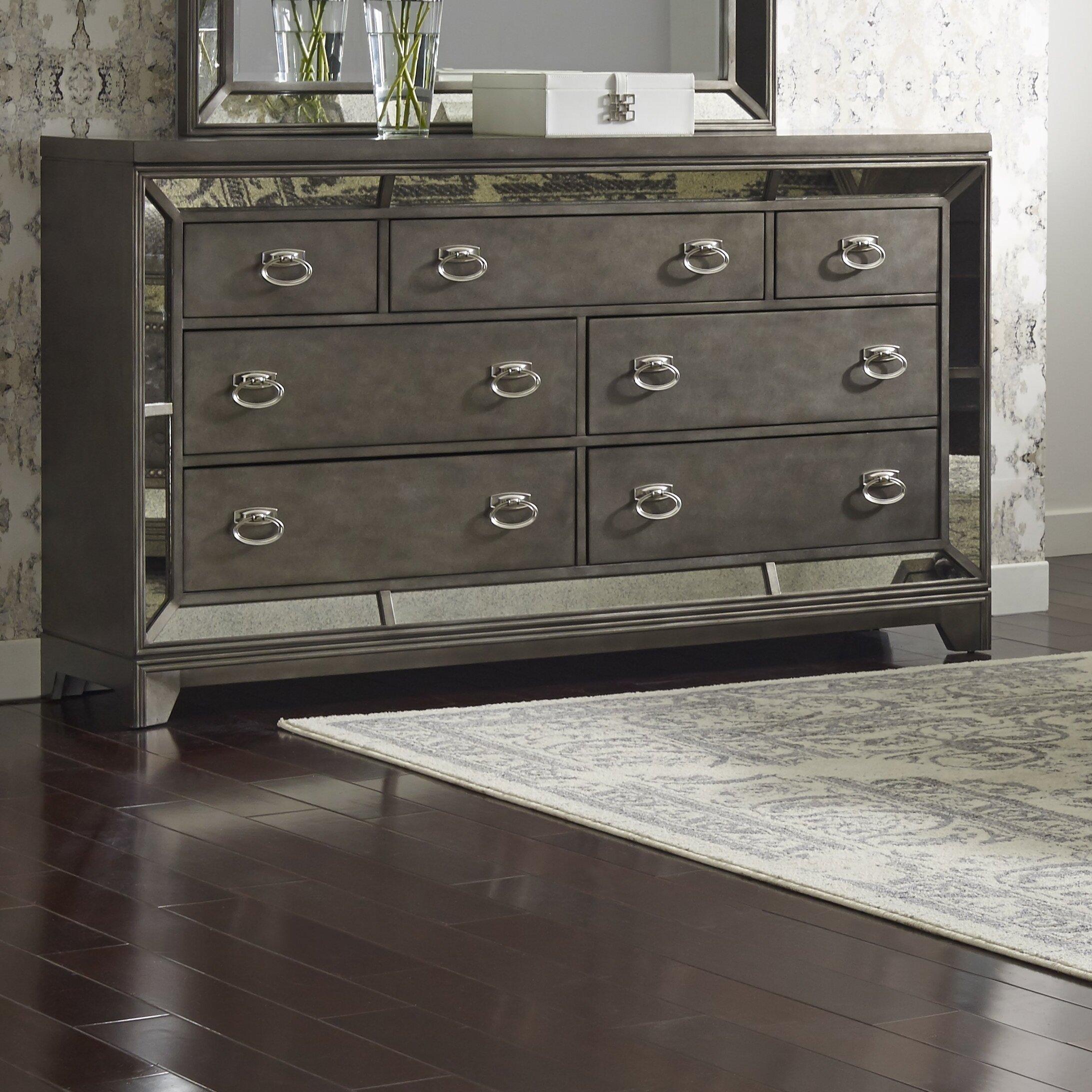 Roxie 7 Drawer Dresser With Mirror