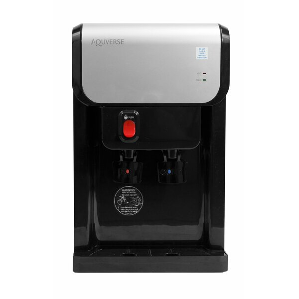 Bottleless Countertop Hot and Cold Electric Water Cooler by Aquverse