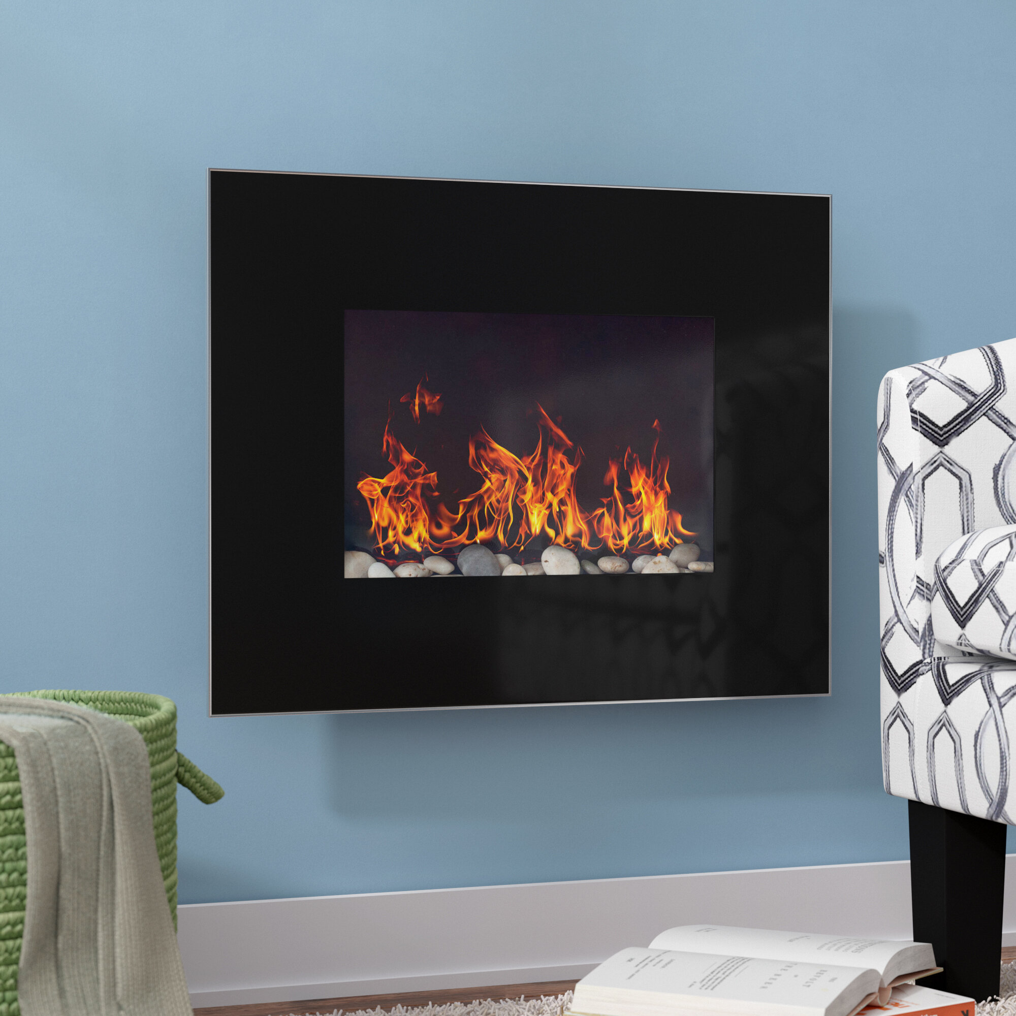 Ebern Designs Bartlow Wall Mounted Electric Fireplace Reviews