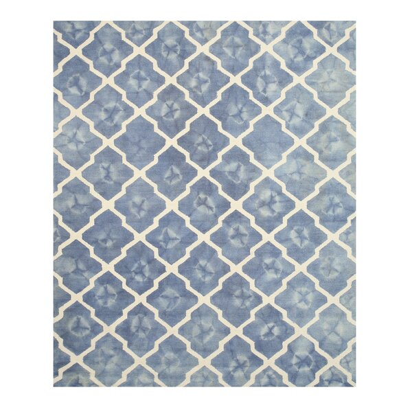 Hand Tufted Blue & Ivory Area Rug by Eastern Rugs