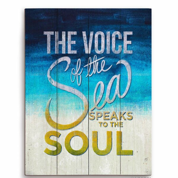 The Voice of the Sea Speaks to the Soul Textual Art Plaque by Click Wall Art