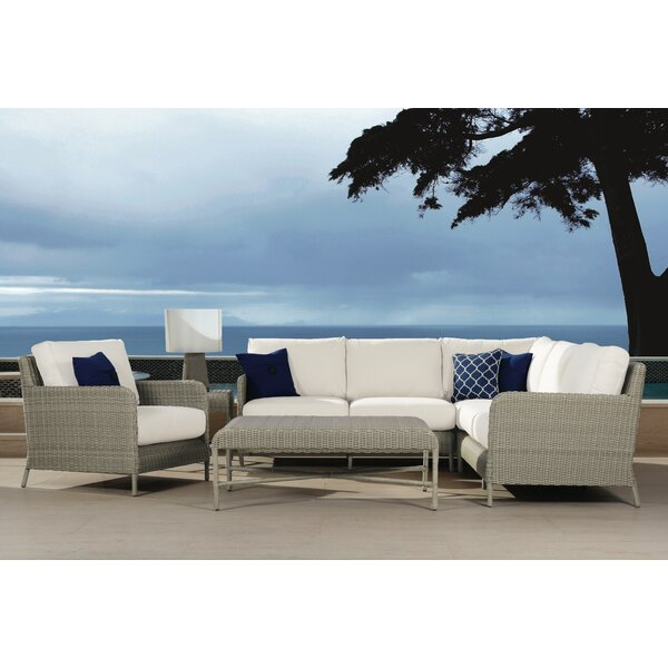 Manhattan 5 Piece Sectional Seating Group with Cushions