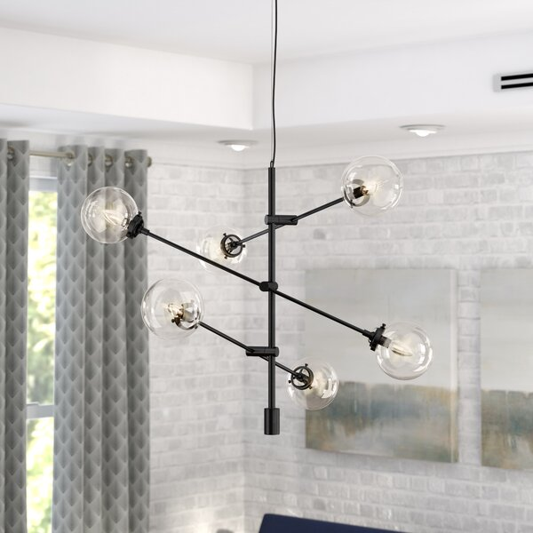 Bensley Antique 6-Light Chandelier by Langley Stre