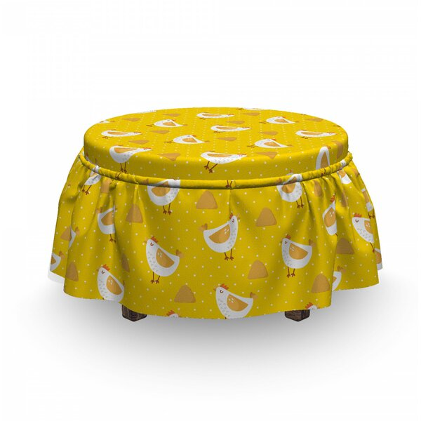 Dots Chicken Haystack Ottoman Slipcover (Set Of 2) By East Urban Home