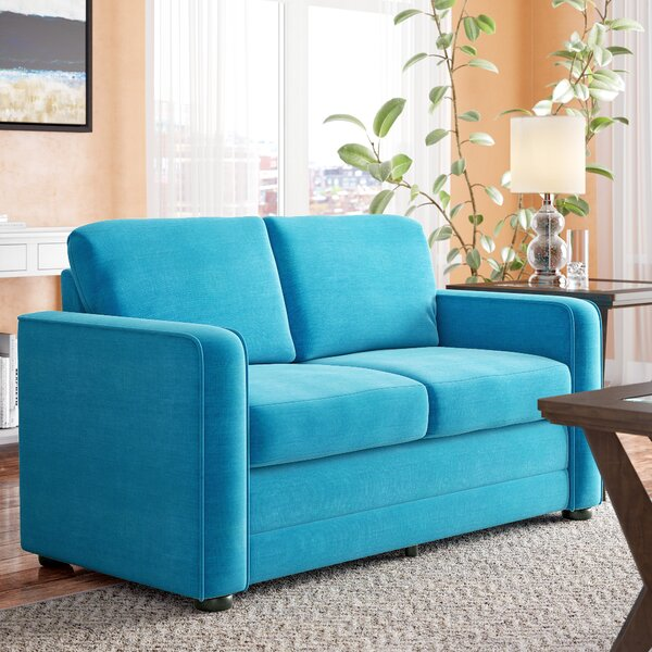 Trendy Modern Lillian Ultra Lightweight Sleeper Loveseat by Latitude Run by Latitude Run