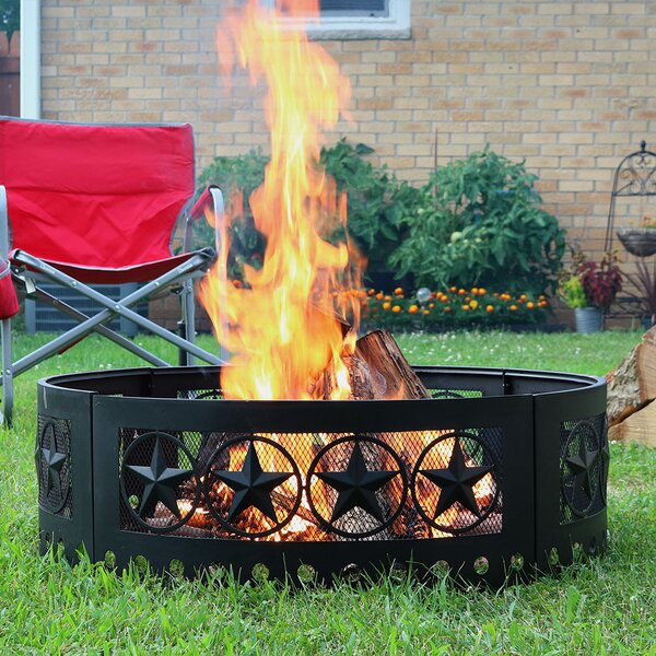 Steel Wood Burning Fire Ring by Wildon Home ®