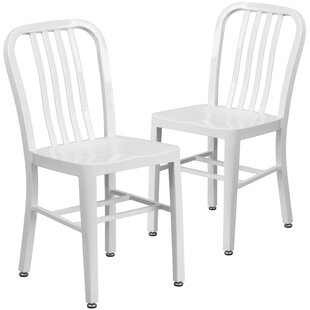 White Distressed Metal Chair | Wayfair