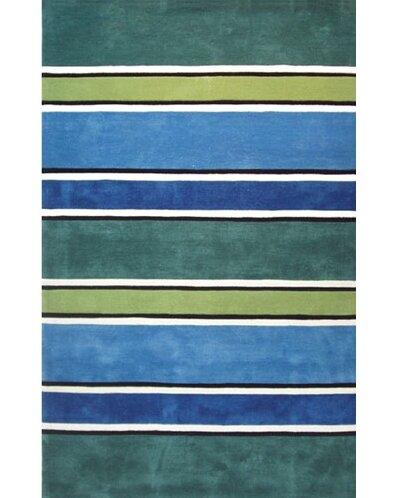 Beach Rug Tropic Multi Ocean Stripes Rug by American Home Rug Co.