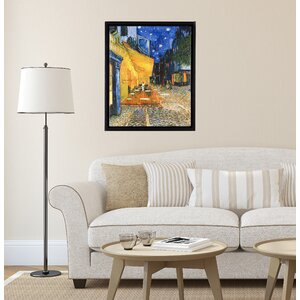 'Cafe Terrace on the Place de Forum in Arles at Night'  Framed Painting Print on Wrapped Canvas by Winston Porter