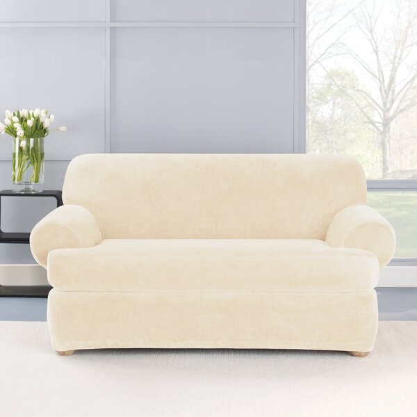 Stretch Plush 2 Piece T-Cushion Loveseat Slipcover Set by Sure Fit