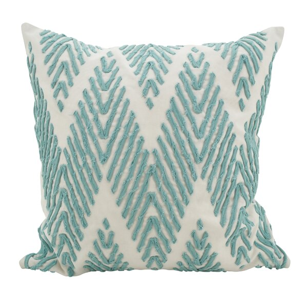 East Rolstone Chevron Cotton Throw Pillow by Rosecliff Heights