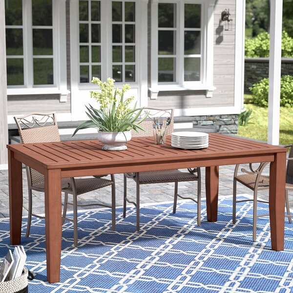 Hursey Solid Wood Dining Table by Three Posts