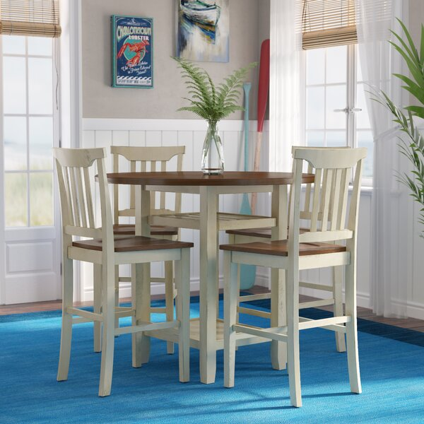 Eastep 5 Piece Counter Height Breakfast Nook Dining Set by Breakwater Bay