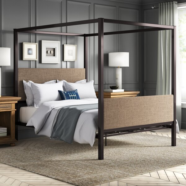 Fromberg Queen Upholstered Canopy Bed by Greyleigh