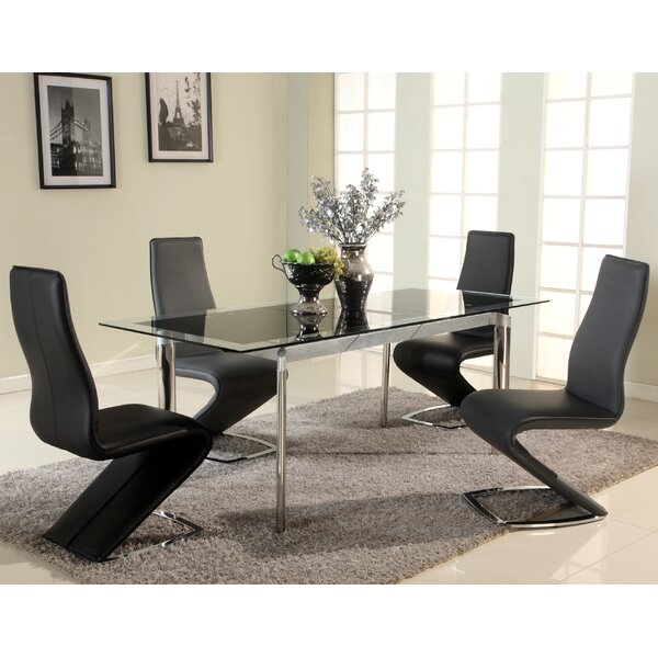 Chellsey Extendable Glass Dining Table by Orren Ellis