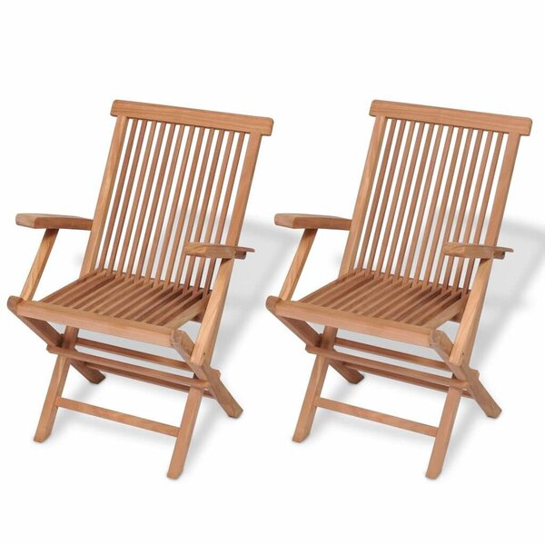 Folding Garden Chair (Set of 2) by Highland Dunes