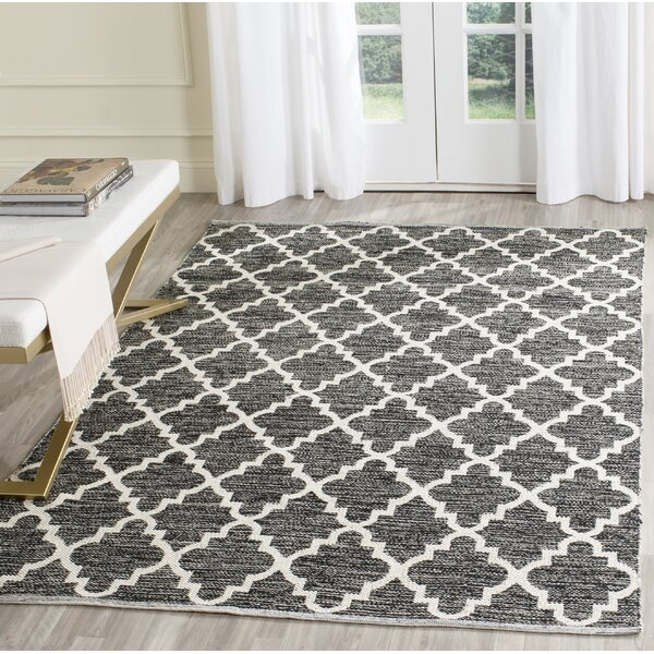Valley Hand-Woven Black/Ivory Area Rug by Alcott Hill
