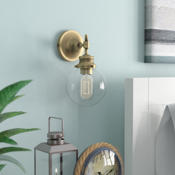 Adley 1-Light Armed Sconce by Breakwater Bay