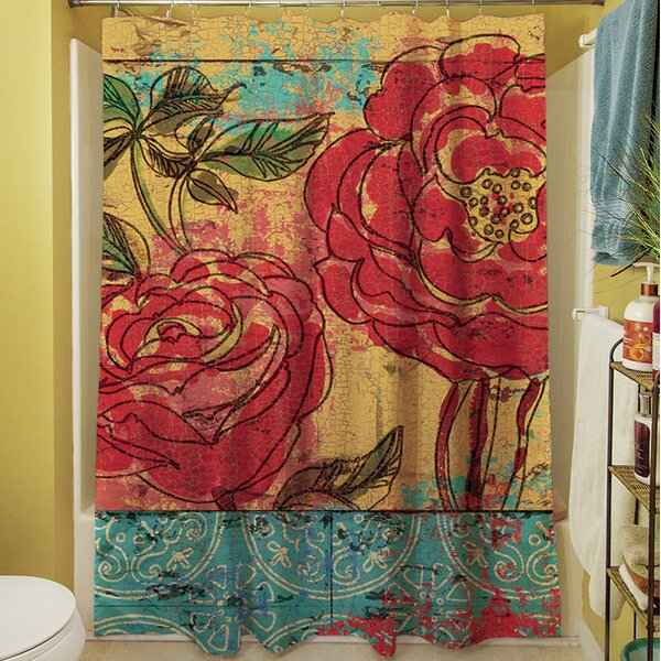 Valencia III Shower Curtain by Manual Woodworkers & Weavers