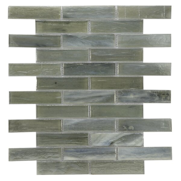Laguna Glass Mosaic Tile in Gray by Byzantin Mosaic