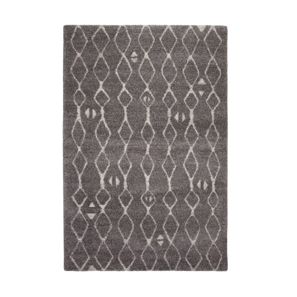 Adamsburg ShagFlokati Synethic Gray Indoor Area Rug by Foundry Select