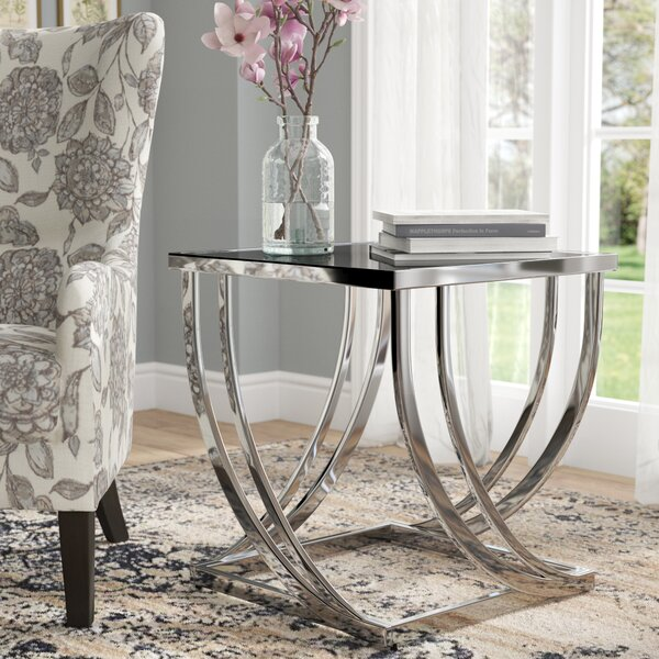 Lucio Arch Curved Sculptural End Table by Wade Logan
