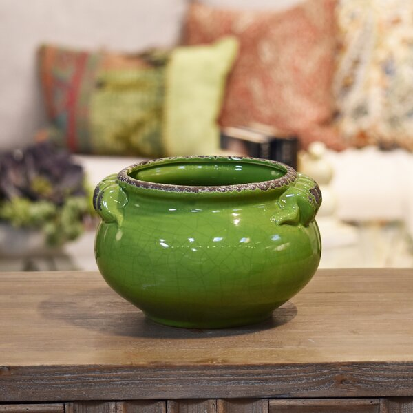 Tuscan Wide Ceramic Pot Planter by Urban Trends