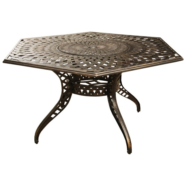 Cashion Mesh Lattice Dining Table by Fleur De Lis Living