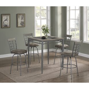 Perreira 5 Piece Pub Table Set By Latitude Run