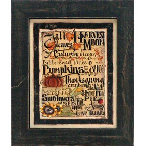 'Fall Words' Framed Painting Print by August Grove