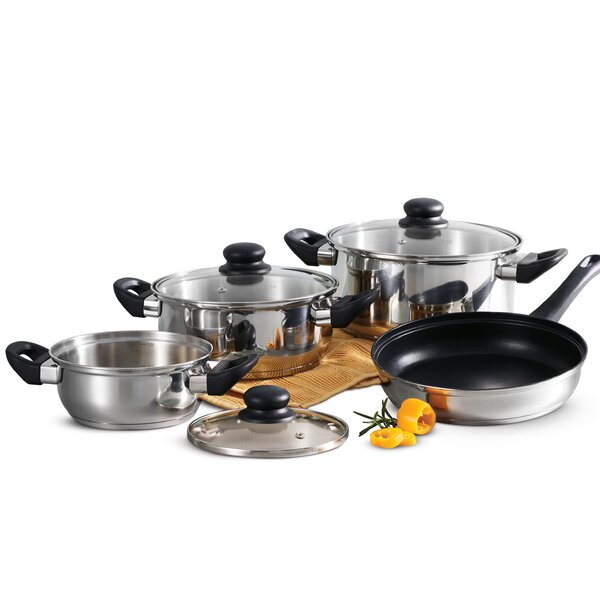 Primaware 7 Piece Non-Stick Stainless Steel Cookware Set by Tramontina