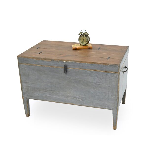 Trunk Tray Table with Storage by Sarreid Ltd