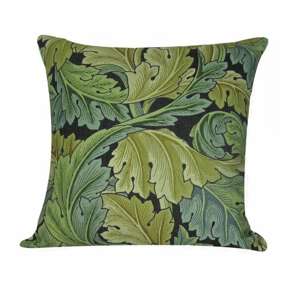 William Morris Leaves Throw Pillow Cover by Golden Hill Studio